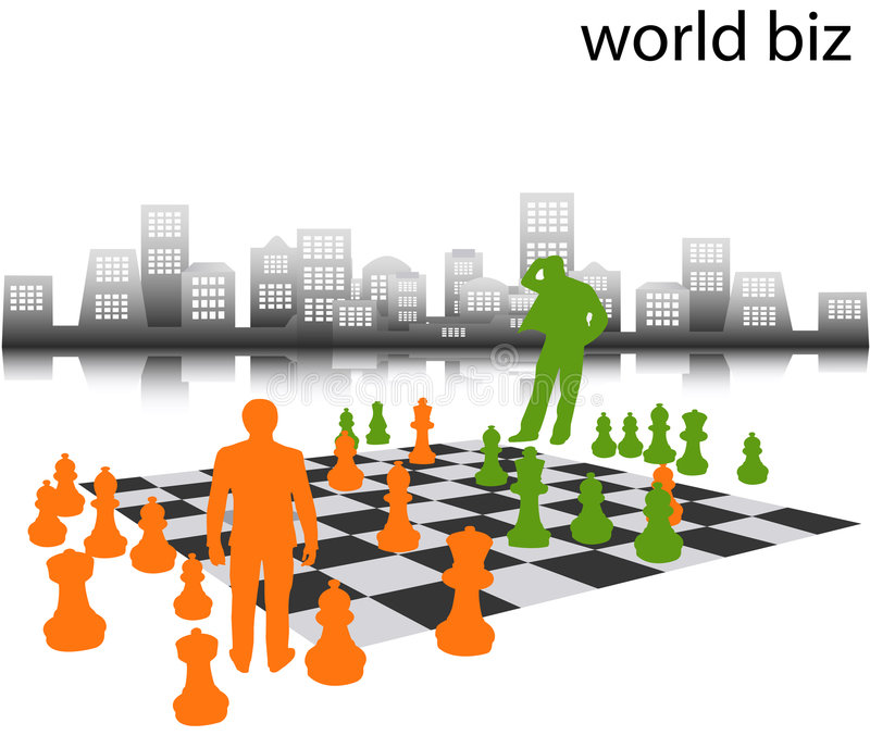 Download Business people stock illustration. Image of orange, chessboard - 2282638