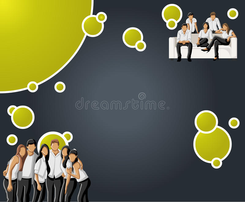 Business people. Green lime and black template with business people vector illustration