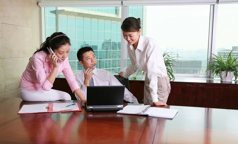 Download Business people stock image. Image of chinese, office - 5612805