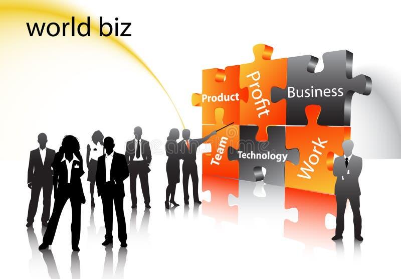 Business people. Illustration of business people... world biz vector illustration