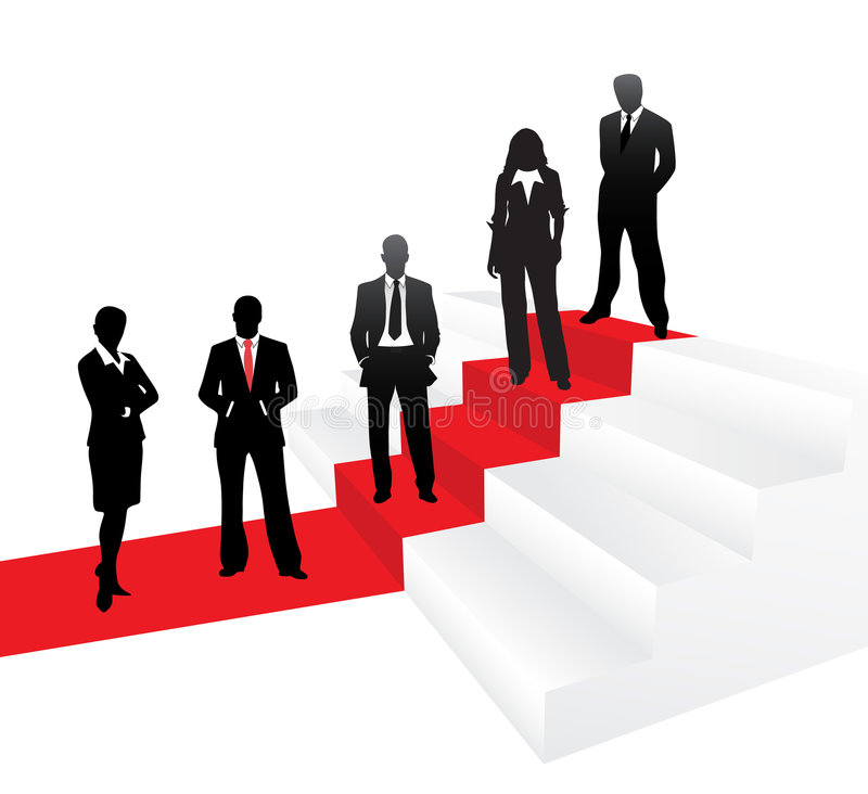 Business people. Vector illustration of business people on red carpet vector illustration