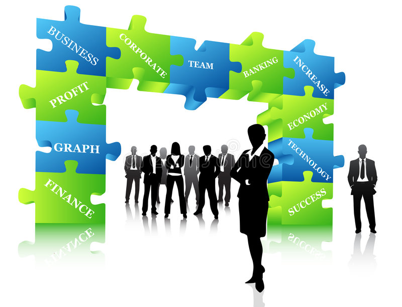 Business people. Vector illustration of business people stock illustration