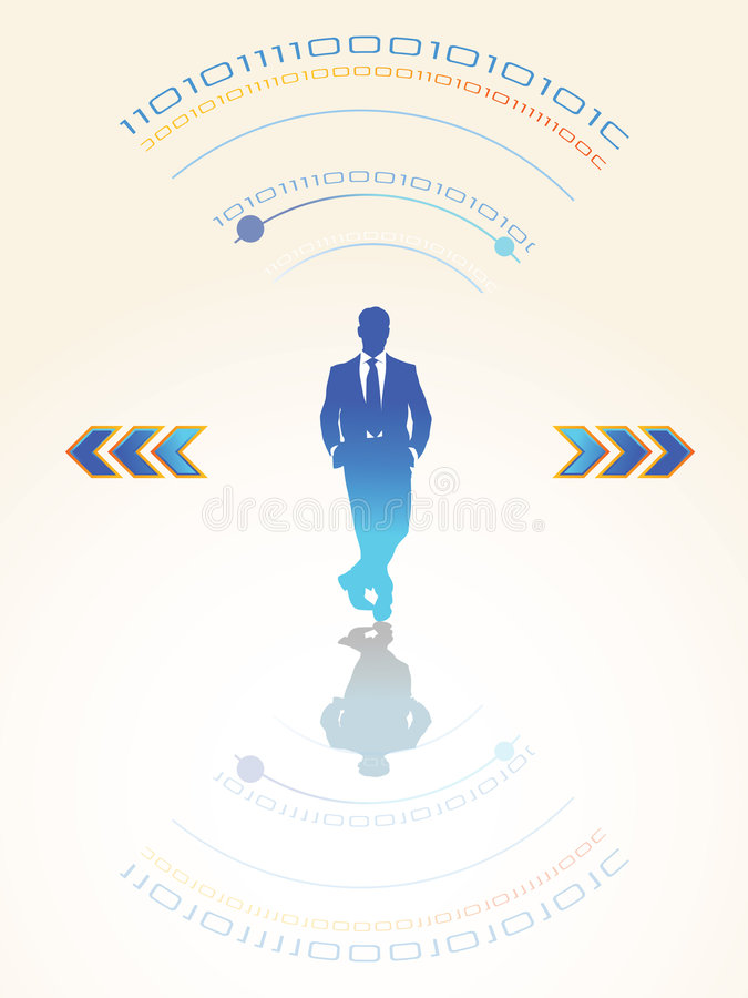 Download Business people stock vector. Image of flow, businessman - 8449121