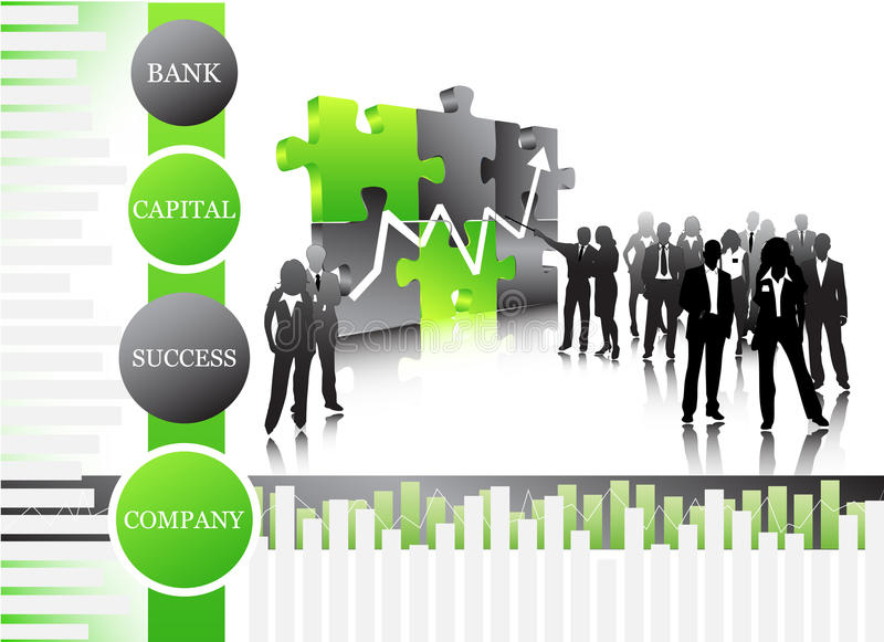 Business people. Vector illustration of business people.... concept of business team stock illustration