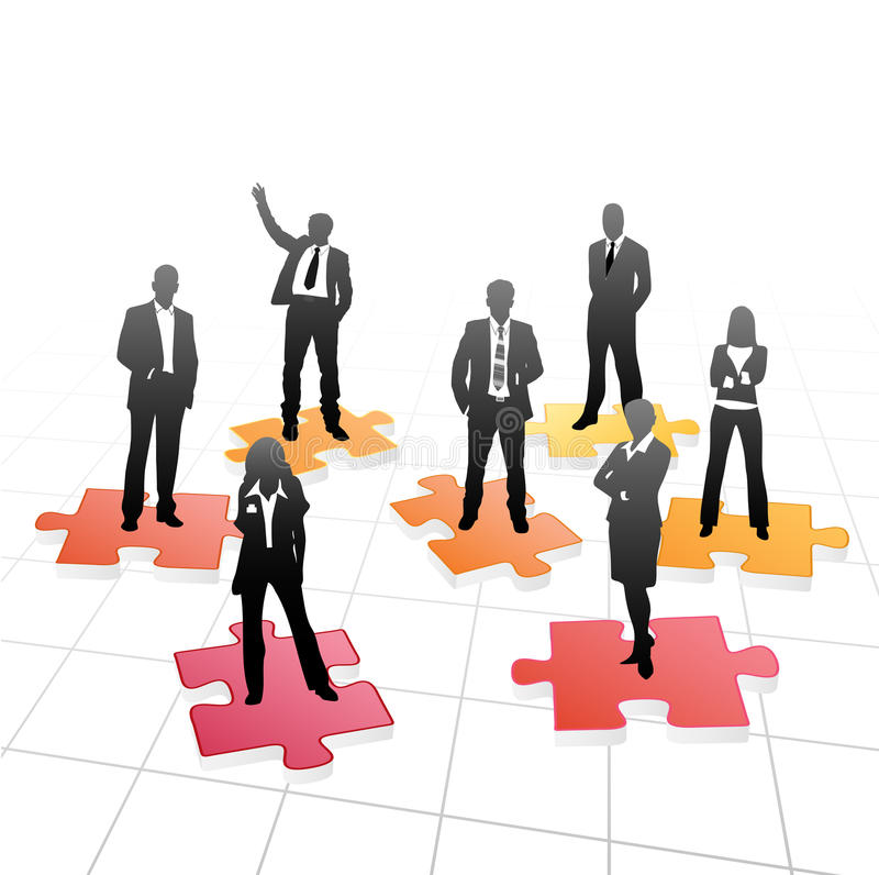 Business people. On the puzzle stock illustration
