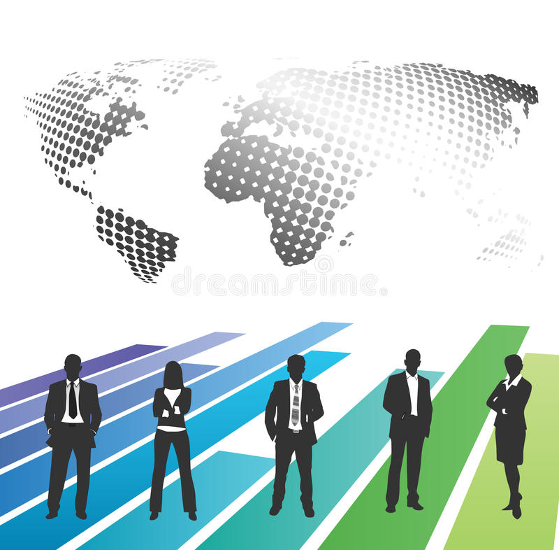 Business people. Vector illustration of business people on the graph vector illustration