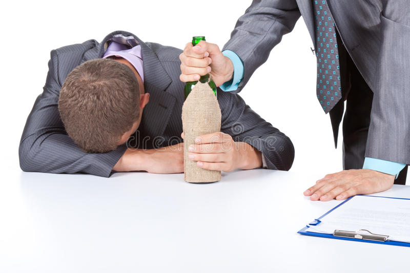 Business people alcohol stock photography