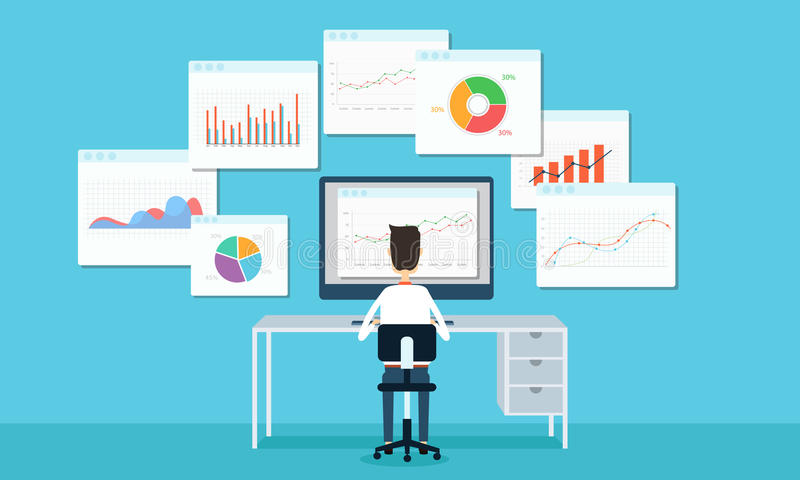 Business people analytics business graph and seo on web. Business people on technology internet globalization concept