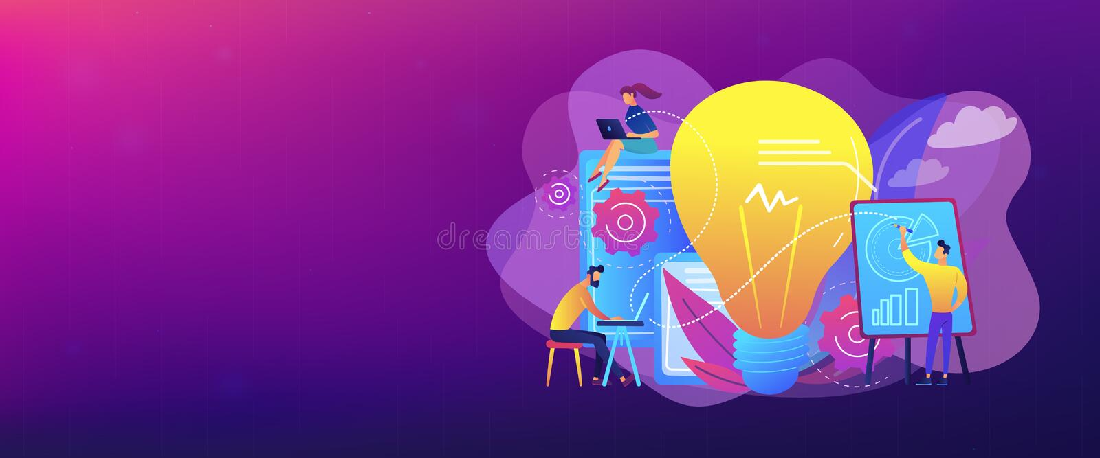Competitive intelligence concept banner header. royalty free illustration