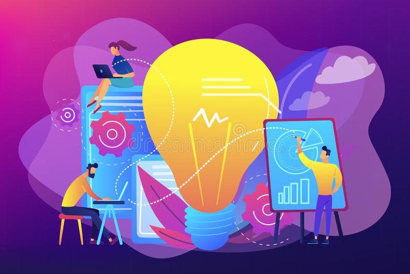 Competitive intelligence concept vector illustration. vector illustration