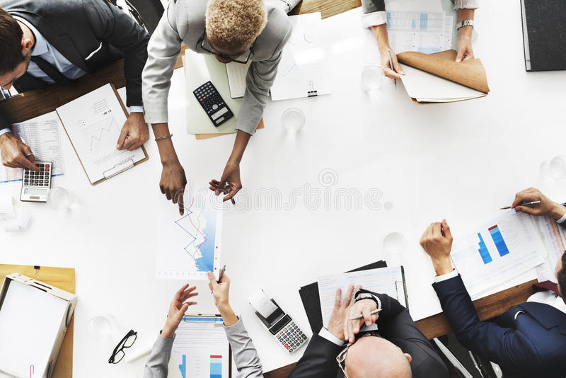 Business People Analyzing Statistics Financial Concept stock photos