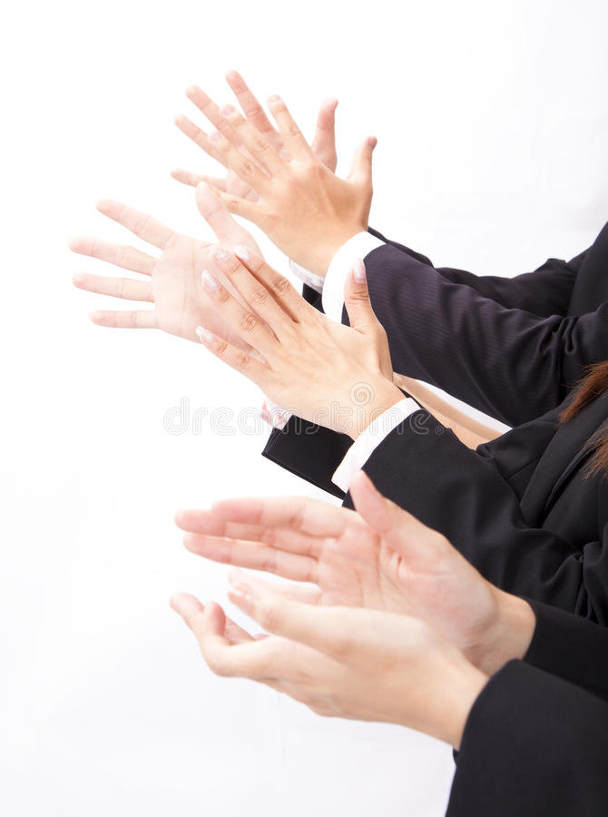 Download Business people applauding stock photo. Image of together - 19552302