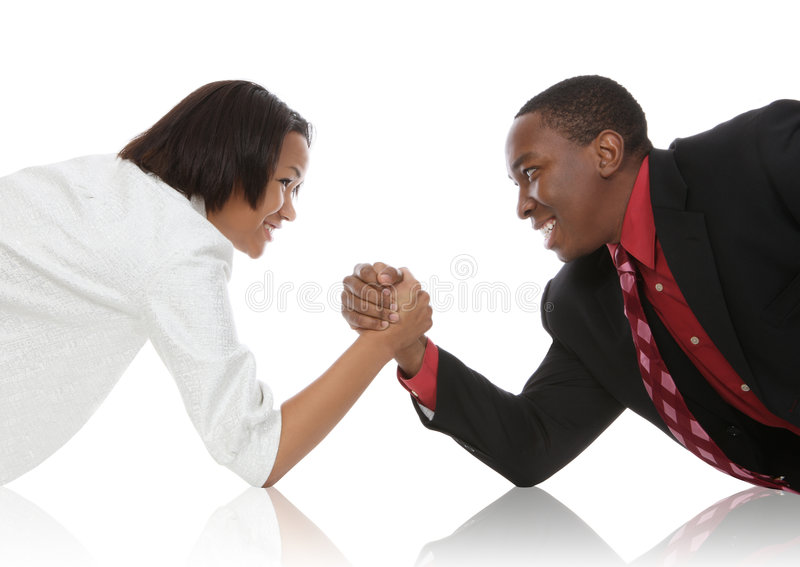 Download Business People Arm Wrestling Stock Photo - Image: 7593308