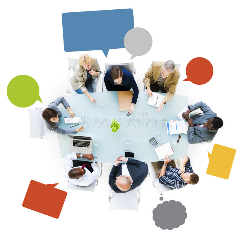 Business People Around The Conference Table. Having A Meeting stock photography