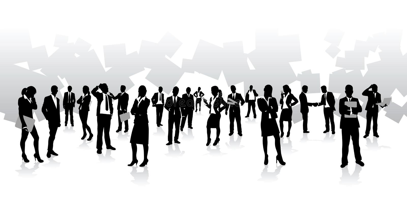 Business people background royalty free illustration