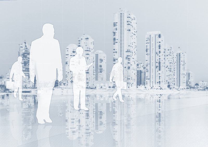 Business people on background stock photo
