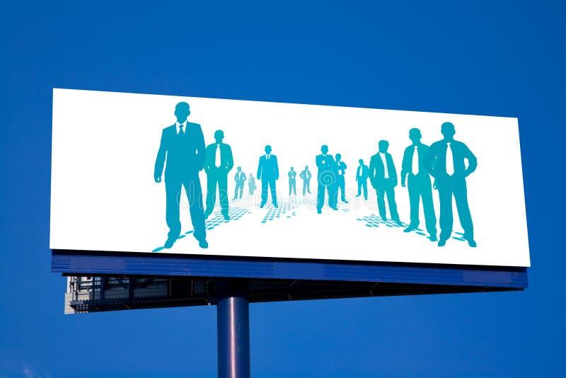 Business People Billboard vector illustration