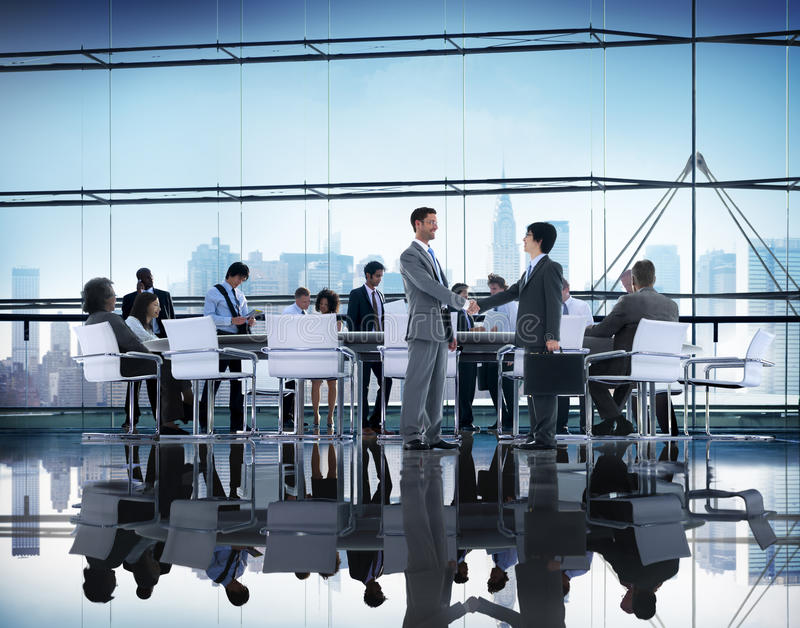 Business People Brainstorming Partnership Teamwork Support Concept stock images