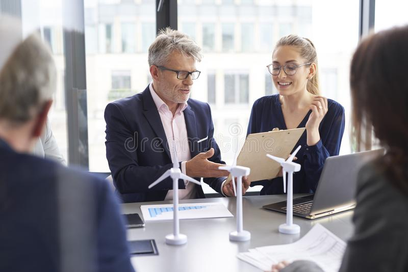 Business people during business meeting stock photography
