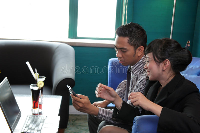Download Business people at cafe stock photo. Image of businesspeople - 11111542