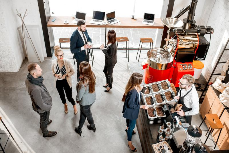 Business people in the cafe royalty free stock images