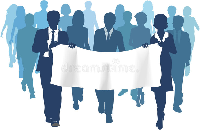 Download Business People Carry Banner Copy Space Forward Stock Vector - Illustration: 18971690
