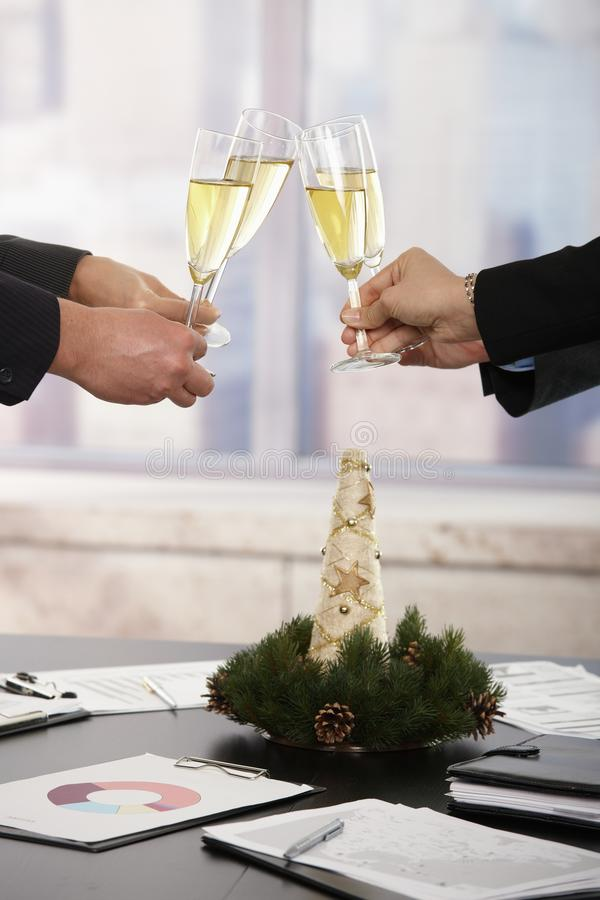 Business People Celebrating New Year Royalty Free Stock Photo