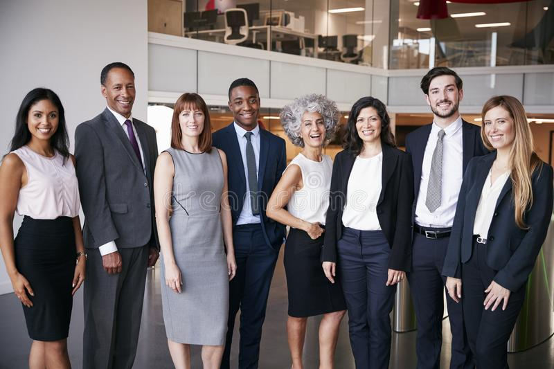 Business people celebrating in the office royalty free stock image