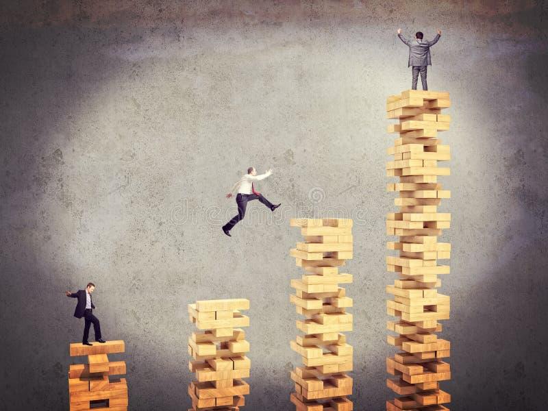 Business people challenge stock image