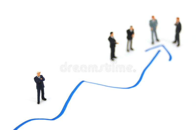 Business people on chart background royalty free stock photos