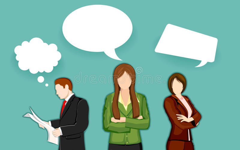Business People with Chat Bubble stock illustration