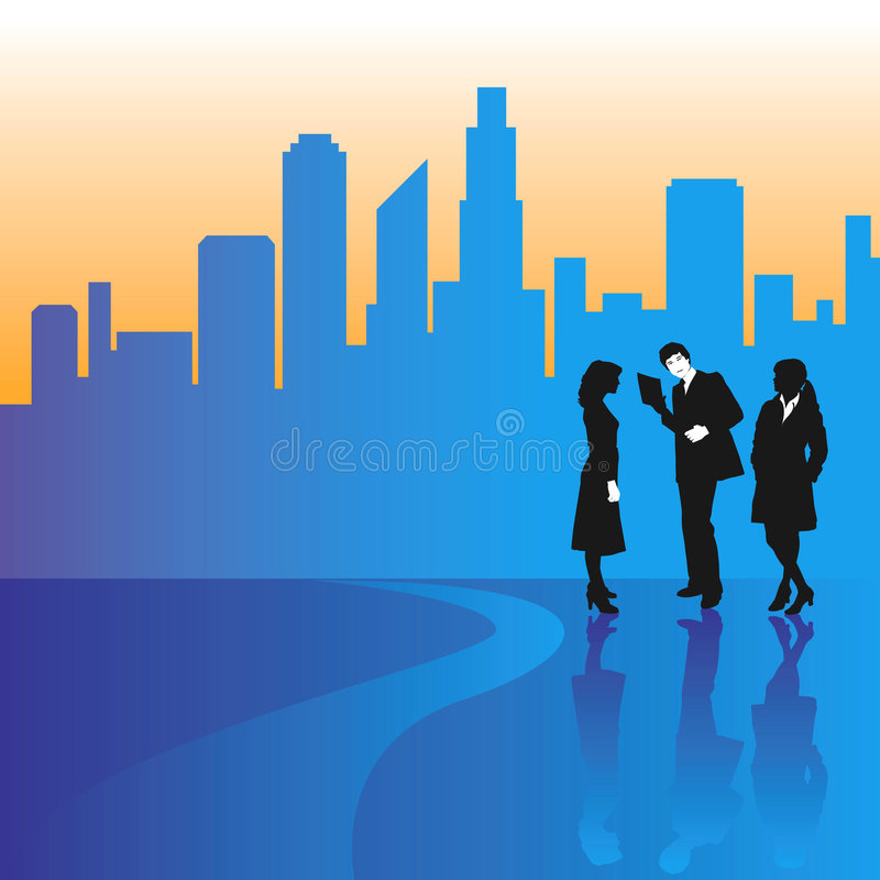Download Business People In A City Royalty Free Stock Photography - Image: 4842567
