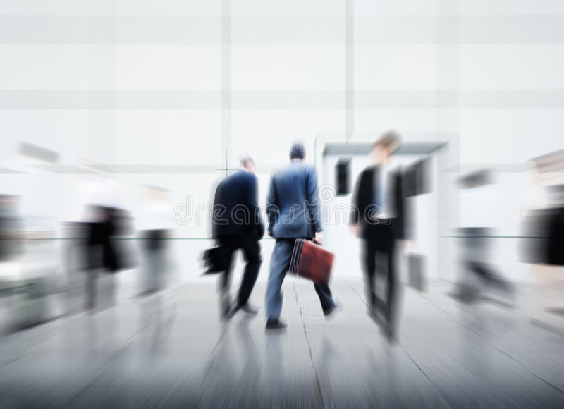 Business People City Life Hustle Hurry Occupation Concept stock photography