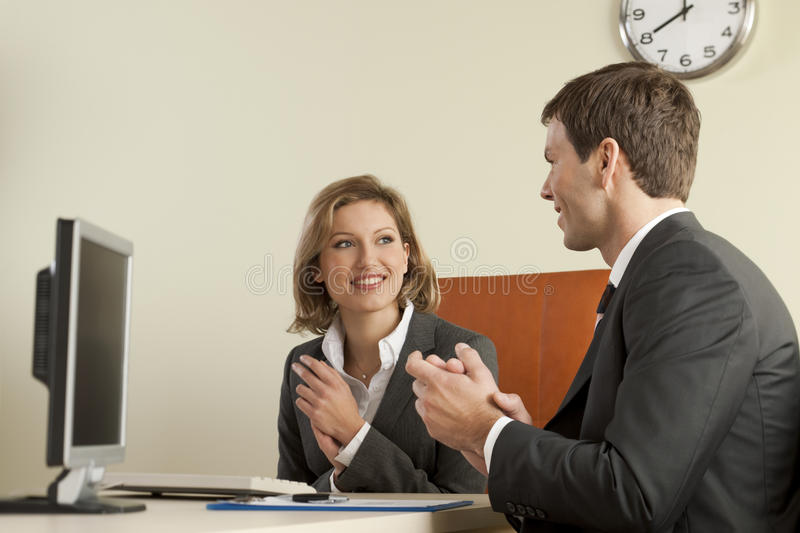 Business people clapping stock images