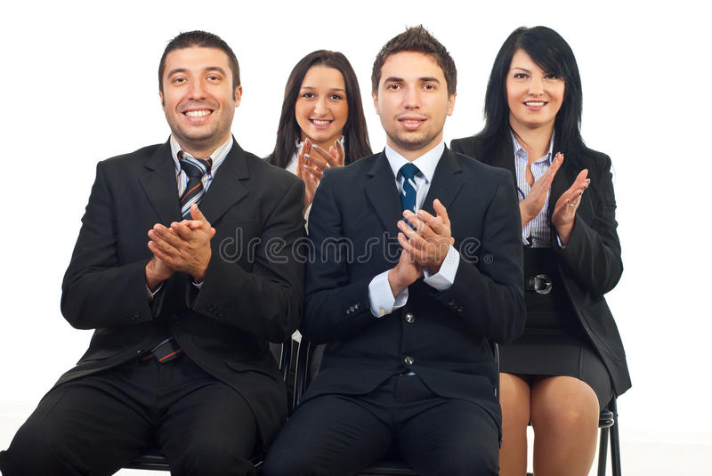 Business People Clapping At Conference Stock Photography