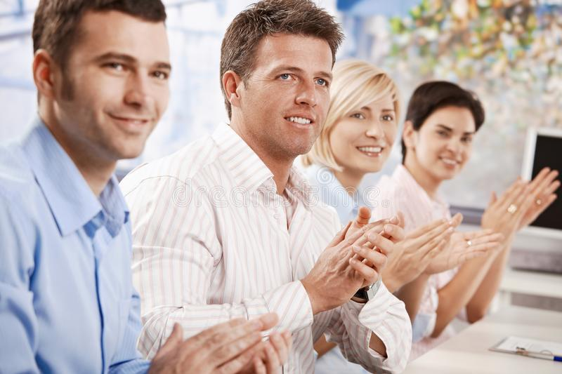 Download Business People Clapping At Meeting Stock Image - Image: 13000547