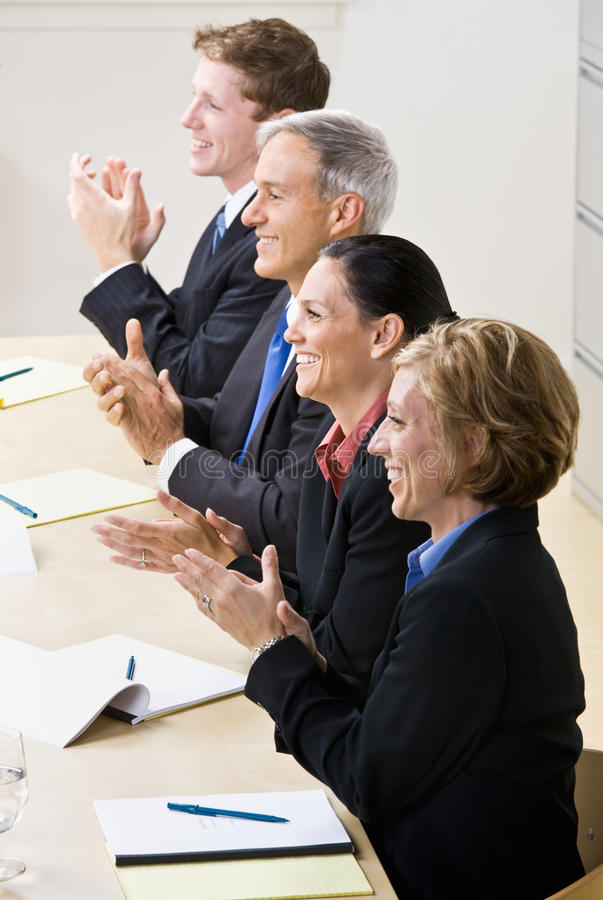 Business People Clapping In Meeting Royalty Free Stock Photography