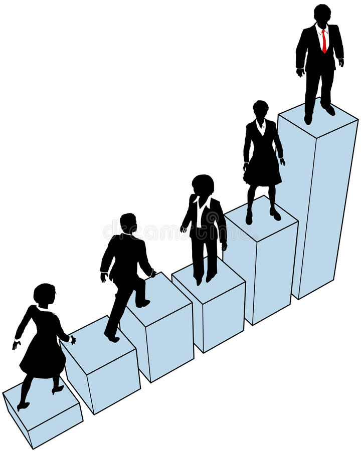 Download Business People Climb Stand On Chart Stock Vector - Illustration: 26419368
