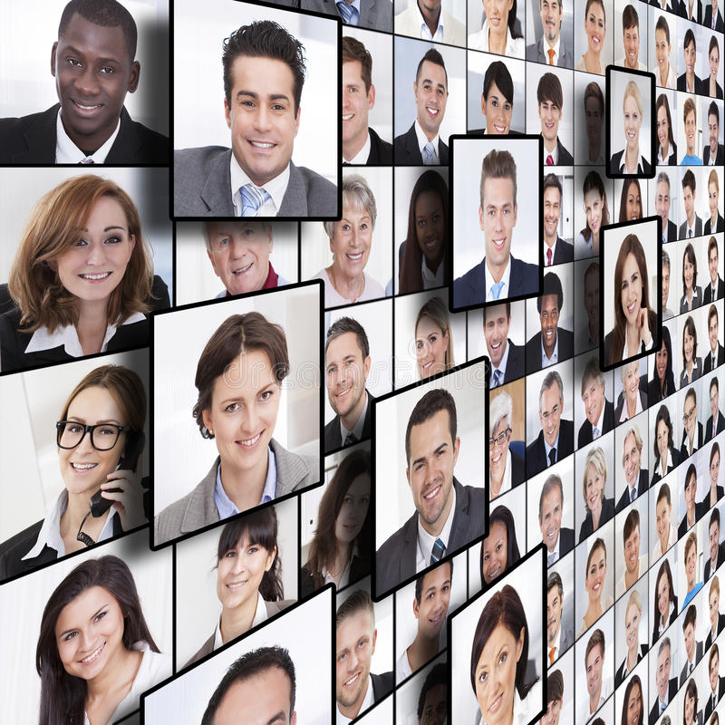 Business people collage. Full frame shot of business people collage stock images
