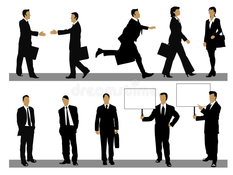 Business people collection stock photos