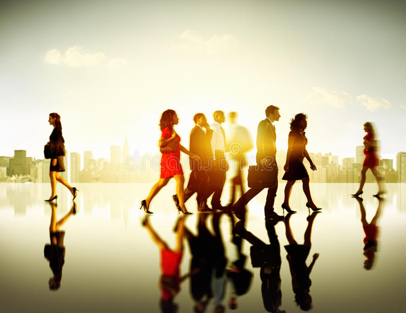 Business People Commuter Corporate Cityscape Pedestrian Concept.  royalty free stock photos