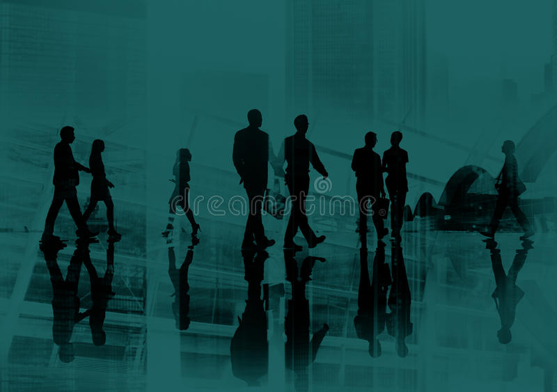 Business People Commuter Walking Cityscape Concept stock photography