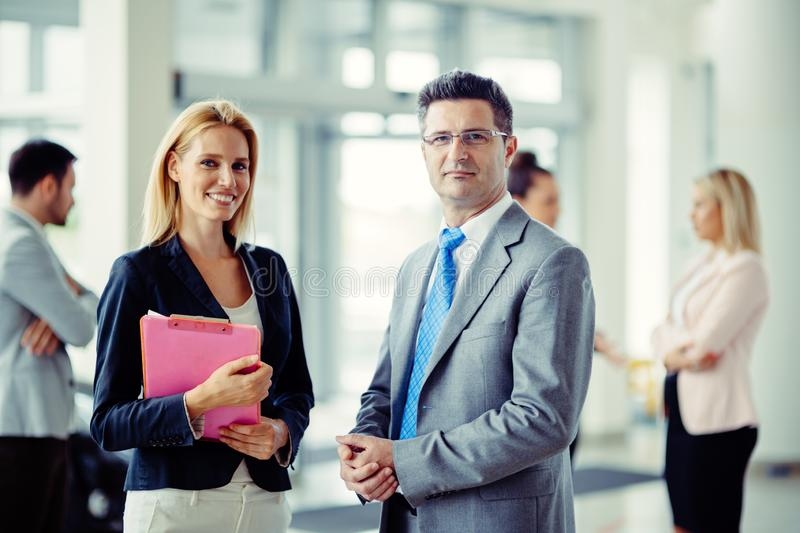 Business people at company. Staff of business people at business corporation stock photography