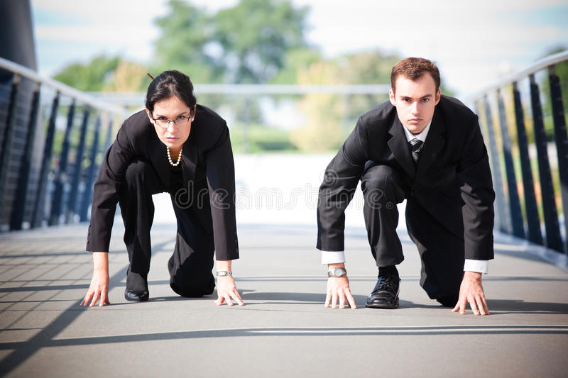 Business People In Competition Stock Image