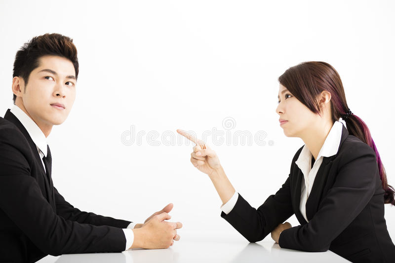 Business people with complain concept. Angry business people with complain concept royalty free stock image