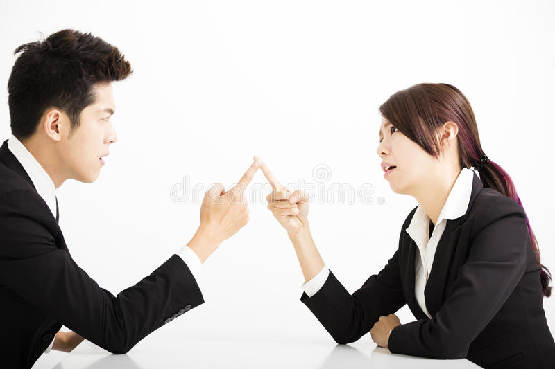 Business people with complain concept. Young business people with complain concept royalty free stock images
