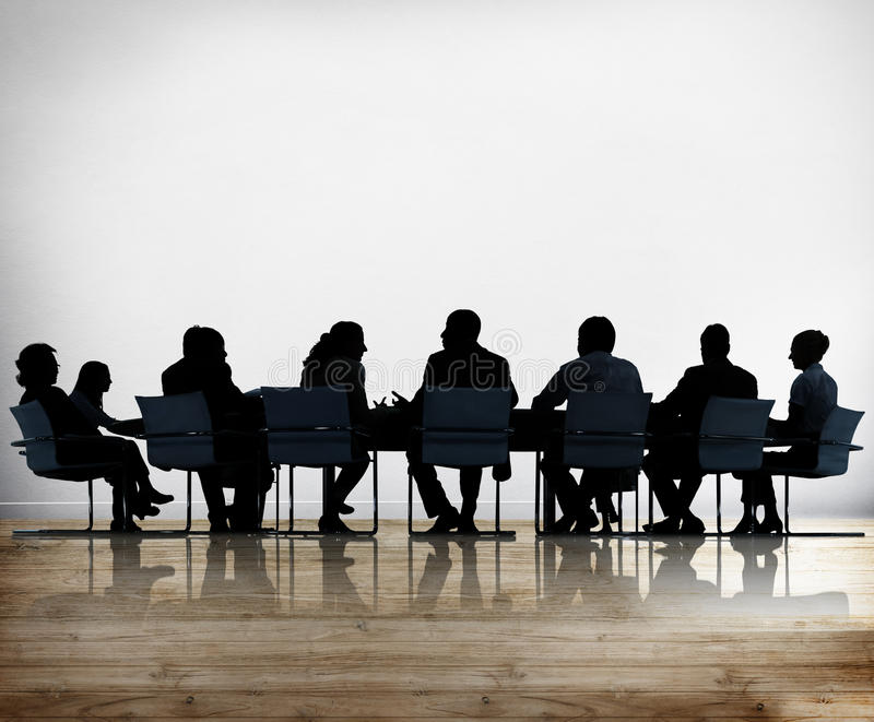 Business People Conference Meeting Discussion Concept royalty free stock images
