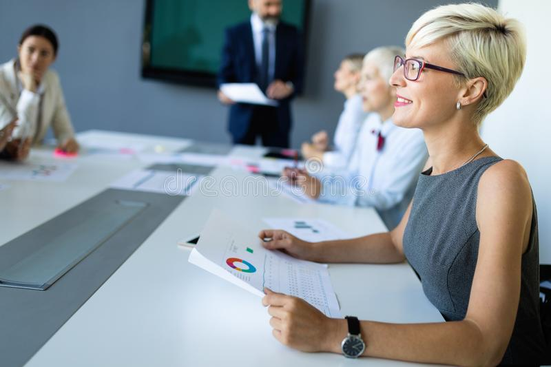 Business people conference and meeting in modern office. Business people work conference and meeting in modern office royalty free stock photos