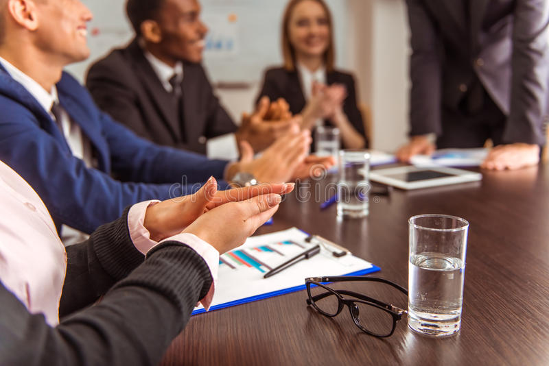 Business people conference royalty free stock image
