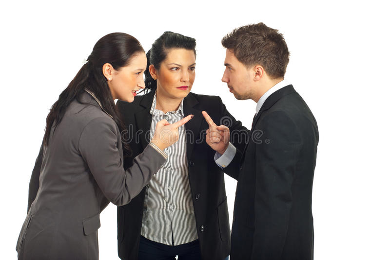 Business people conflict royalty free stock photo